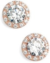 Nordstrom Women's Round 3.48Ct Tw Cubic Zirconia Stud Earrings