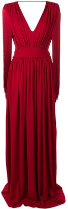 Alberta Ferretti Side Slit Dress