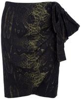 Giambattista Valli snakeskin print skirt