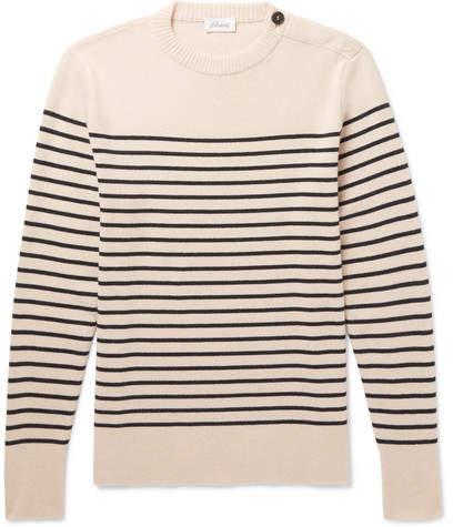 Brioni Striped Cashmere Sweater