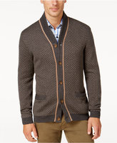 Tasso Elba Men's Soft Touch Shawl-Collar Texture Cardigan, Only at Macy's