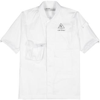 Off-White Climb Voyager white cotton-poplin shirt