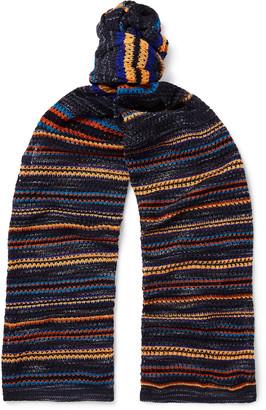 Missoni Striped Crochet-Knit Cotton-Blend Scarf