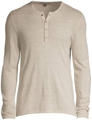 John Varvatos Silk & Cashmere Henley Shirt