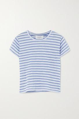 La Ligne Rickie Cropped Striped Cotton-jersey T-shirt - Light blue