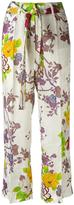 Etro floral print trousers - women - Silk/Viscose - 38