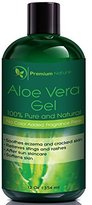 Aloe Vera Gel for Face Body & Hair, 12 oz, Pure & Natural, Soothes Eczema, After Sun Skin Care, By Premium Nature