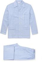Derek Rose - Arran Herringbone Brushed-cotton Pyjama Set