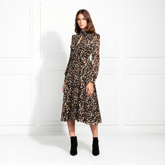 Rachel Zoe Alva Cheetah Printed Midi Dress