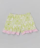 Flap Happy Bella Brocade Ruffle Shorts - Infant Toddler & Girls