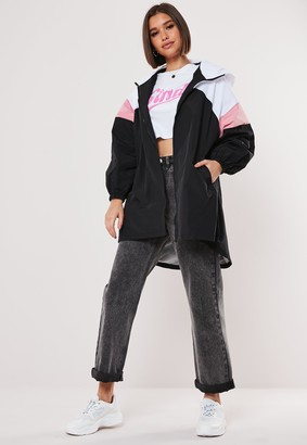 Missguided White Colorblock Windbreaker Jacket