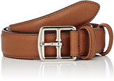 Barneys New York Men's Saffiano Leather Belt-TAN