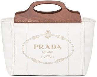 Prada Large Logo-Print Tote Bag