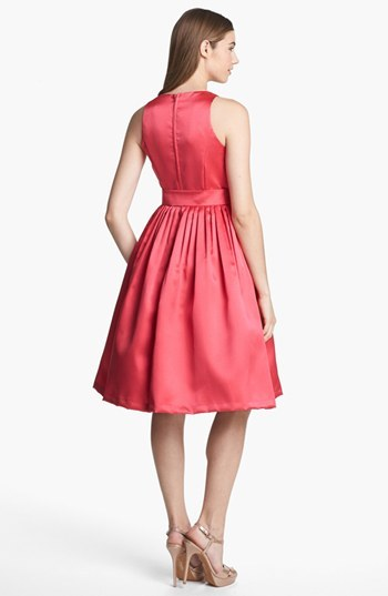 Isaac Mizrahi New York Mikado Fit & Flare Dress