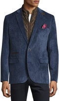 English Laundry Corduroy Quilted Combo Blazer, Slate