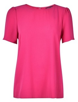 Dorothy Perkins Womens Hot Pink Puff Sleeve T