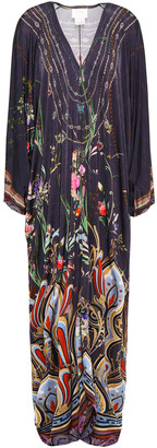 Camilla Crystal-embellished Printed Stretch-jersey Maxi Dress
