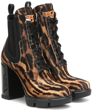 Prada Printed calf-hair ankle boots