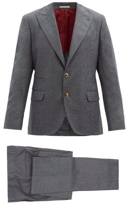 Brunello Cucinelli Single-breasted Wool Suit - Grey