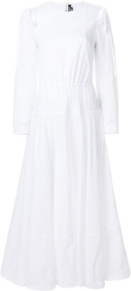 Calvin Klein embroidered peasant dress