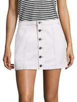Joie Emeralda Button-Front Denim Mini Skirt