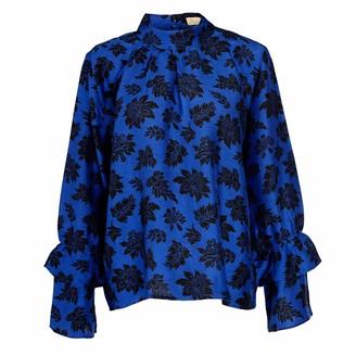 Asneh Kitty Blue Silk Blouse