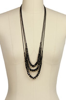 Saachi Black Triple Layer Crystal Necklace