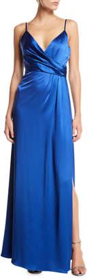 Jill Stuart Satin Wrap Sleeveless April Slip Dress