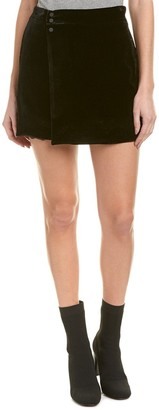 BCBGMAXAZRIA Women's Albie Woven Crushed Velvet Mini Skirt