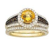 JCPenney Bridal Bouquet Diamond Citrine Topaz Bridal Set Yellow Gold