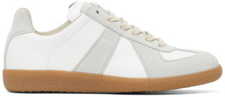 Maison Margiela White and Grey Replica Sneakers
