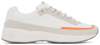 A.P.C. Grey and Orange Teenage Mary Sneakers