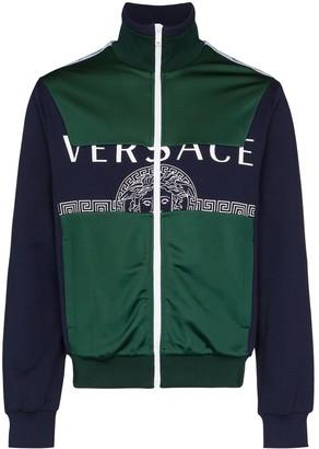 Versace Two-Tone Logo-Print Track Jacket