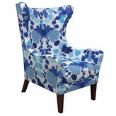 Annie Selke Home Mirage Wingback Chair Upholstery Color: Block Floral Blue