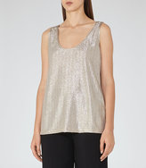 Reiss New Collection Gemma Metallic Tank Top