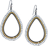 Nakamol Clear Crystal Teardrop Earrings