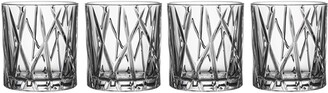 Orrefors City Set of 4 Crystal Old Fashioned Glasses