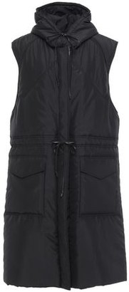Victoria Beckham Leather-trimmed Quilted Shell Hooded Coat