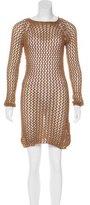 Balmain Spring 2016 Open-Knit Dress