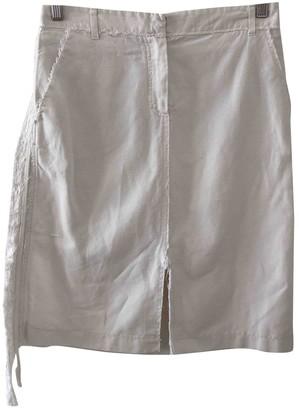 Vanessa Bruno White Linen Skirt for Women