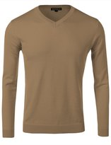 fhnlove Daniel K Men's Long-Sleeve Basic V-Neck Sweater Size M