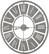 E2 Gray Oversized Vintage Metal Wall Clock