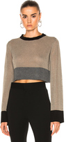 Soyer Pippo Cropped Top in Brown,Gray,Neutrals.