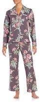 Carole Hochman Floral Flannel Pajama Set
