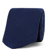 Drakes Drake's - 8cm Cashmere Tie - Storm blue