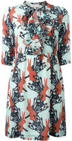 L'Autre Chose rabbits print dress - women - Silk - 42