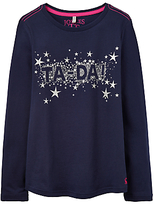 Joules Little Joule Girls' Ta Da Print T-Shirt, French Navy