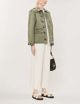 Zadig & Voltaire Mili embroidered cotton-blend jacket