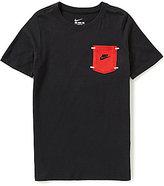 Nike Big Boys 8-20 Short Sleeve Pocket Tee