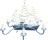 The Well Appointed House Blue & White Sailboat Chandelier for Kids